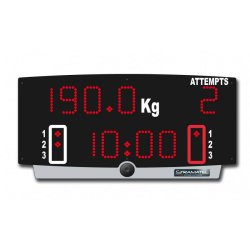 WEIGHTLIFTING SCOREBOARD...
