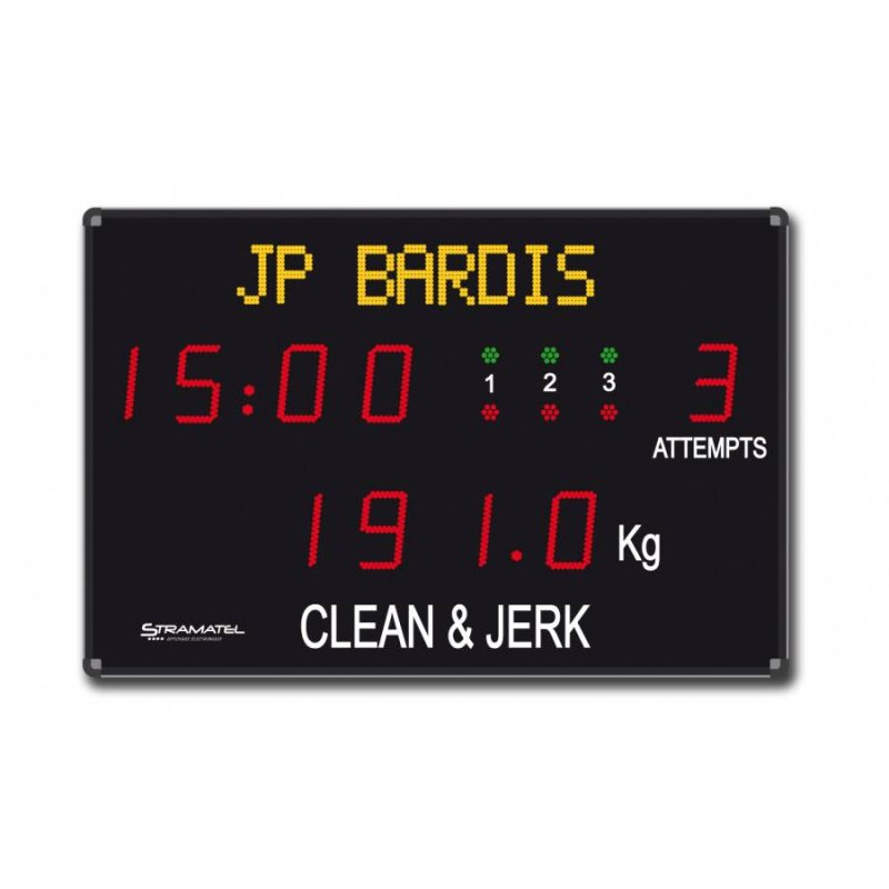 WEIGHTLIFTING SCOREBOARD 1500 x 800 mm