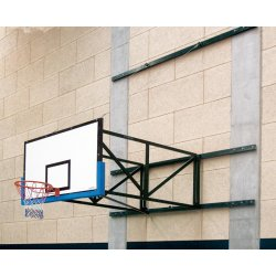 WALL MOUNTED SIDE- FOLDING BASKETBALL BACKSTOPS