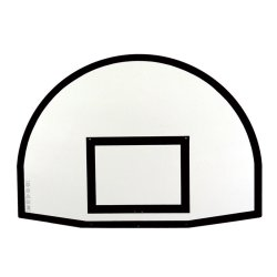 OVAL BACKBOARD POLYESTER (2 units)