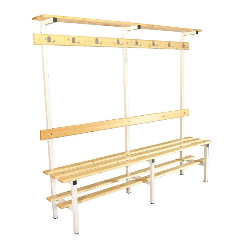 BENCH WITH CLOTHES RACK AND SHOE RACK