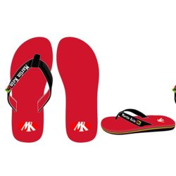 RED/ YELLOW/ BLACK FLIP-FLOPS