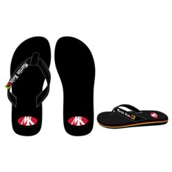 RED/ YELLOW/ BLACK FLIP-FLOPS
