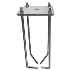 ANCHOR BASE SYSTEM FOR ONE-TUBE BACKSTOPS