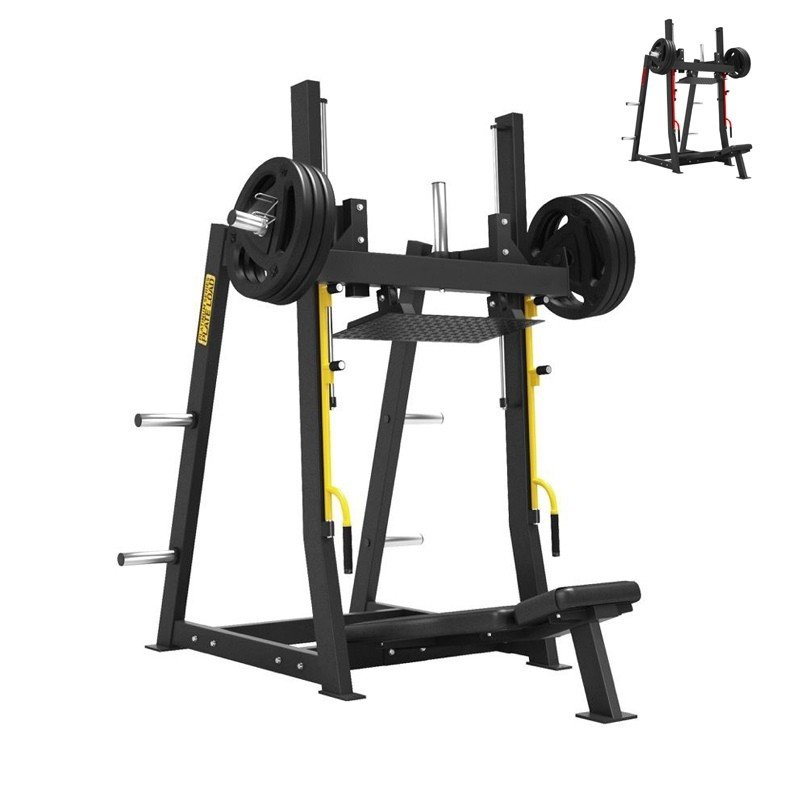 VERTICAL LEG PRESS WITH PLATES