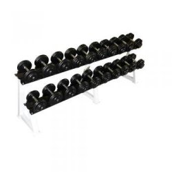FIXED RUBBER DUMBBELLS SET...
