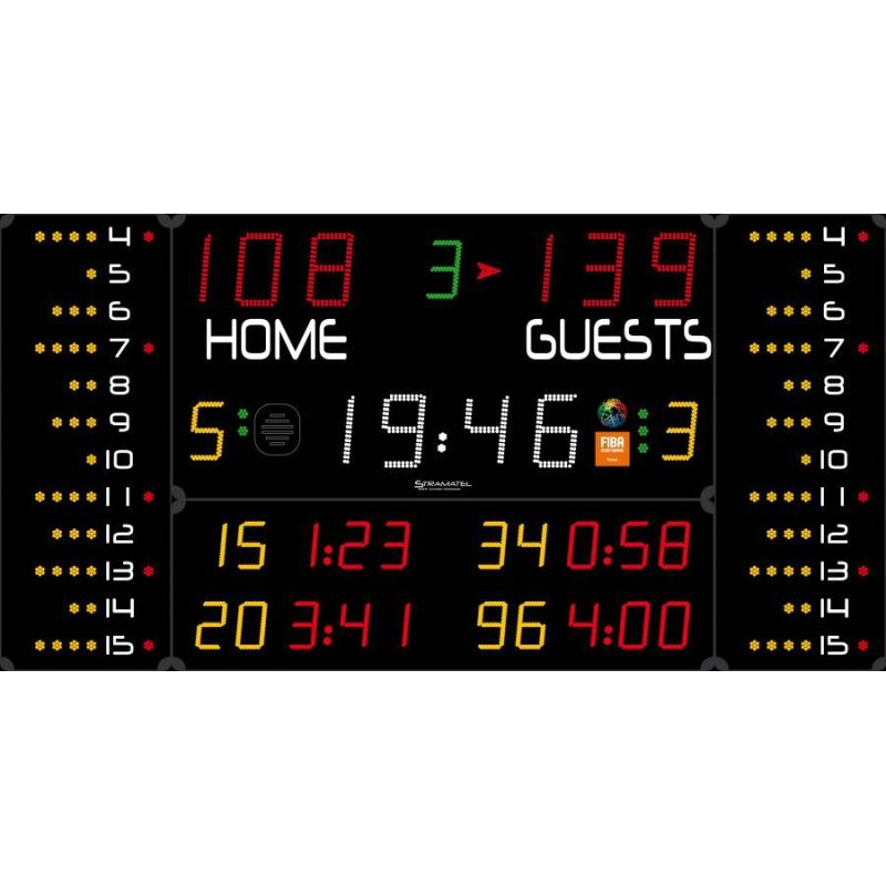 MULTISPORT SCOREBOARD 3100 x 1600 mm