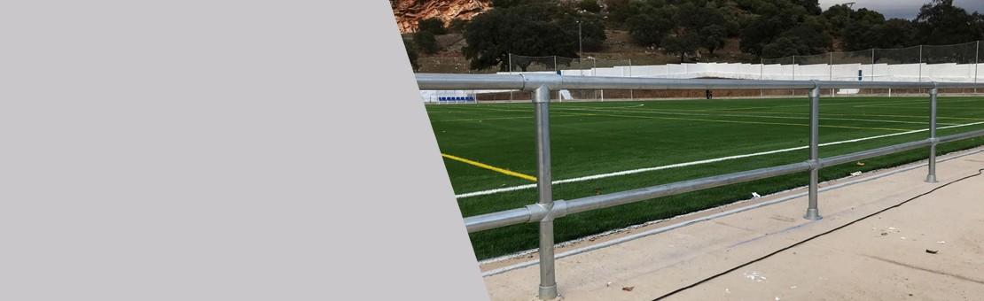 Barandillas para campos de fútbol
